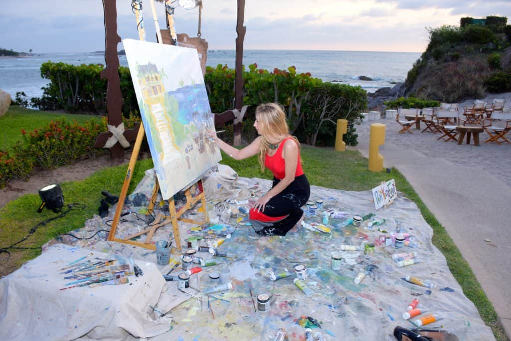 Let Heidi Schwartz Paint Your Event With Her Exquisite Talent