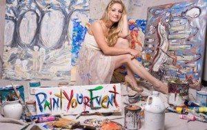 live painter, event painter, heidi schwartz, hid, artist