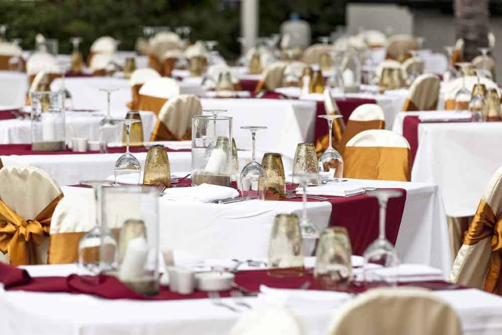 table, dinner, banquet, glass, plate