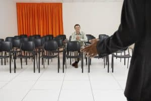 chairs, people, conference, empty