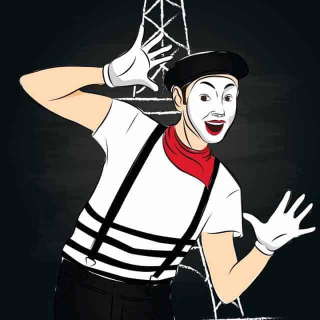 mime, clown, laugh,smile