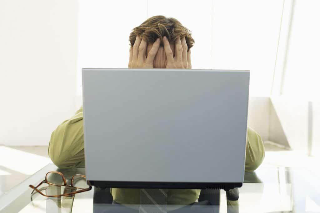 computer, hands, face, man,work